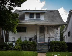 "The ""Peach,"" one of three homes to be renovated for a writer to live and work in Detroit."