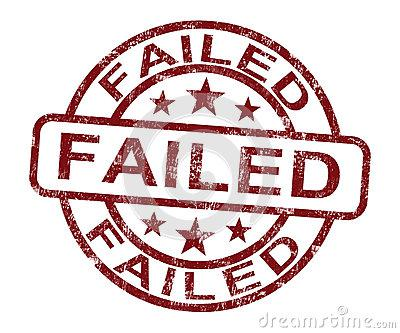 Failed Stamp Showing Reject Or Failure Stock Photo - Image: 25153420