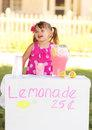 Lemonade Stand Open for Business Royalty Free Stock Image