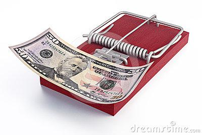 Mousetrap With Money Royalty Free Stock Images - Image: 24414439