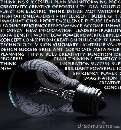 Electric Bulb With Creativity Words Stock Photo - Image: 23714470