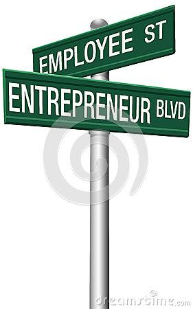 Entrepreneur Employee Street Choice Signs Royalty Free Stock Photography - Image: 28132387