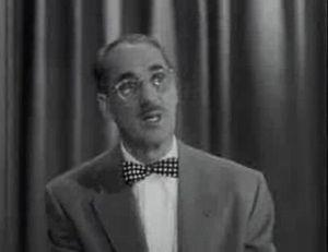English: Groucho Marx in the '50s quiz sow &qu...