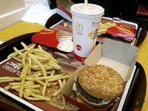English: A Big Mac combo meal with French frie...