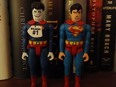 Bizarro and Superman