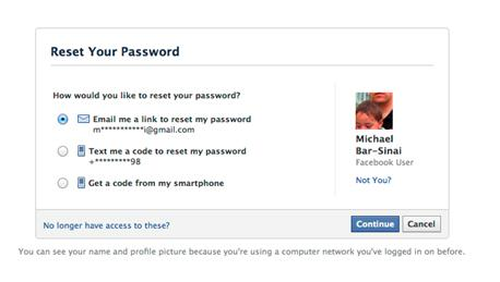 How to find an email address password