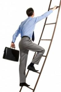 Climb the corporate ladder to success.