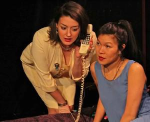 Rachel Lin in Passing Through, an adaptation of Barry Gifford's ″Hotel Room″ trilogy, performed at the Access Theater. Photo Credit: Matt Yeager.