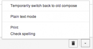 Switch back to old compose gmail