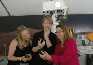 Curiosity's social media team, from left to right: Courtney O'Connor, Stephanie L. Smith, and Veronica McGregor