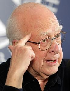 British scientist Professor Peter Higgs addres...