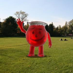 Kool-Aid man's svelte new look. (Image credit: Kraft Foods)
