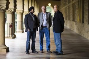 Ayasdi's cofounders at Stanford, where they developed their big data solution. (Credit: Ayasdi)