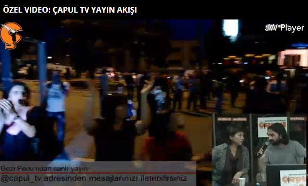 A screenshot of the live interviews and crowd footage available over Capul.tv
