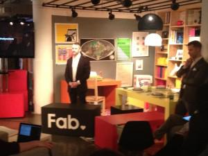 Fab's co-founders Goldberg and Shellhammer unveil the company's bold colors and plans.