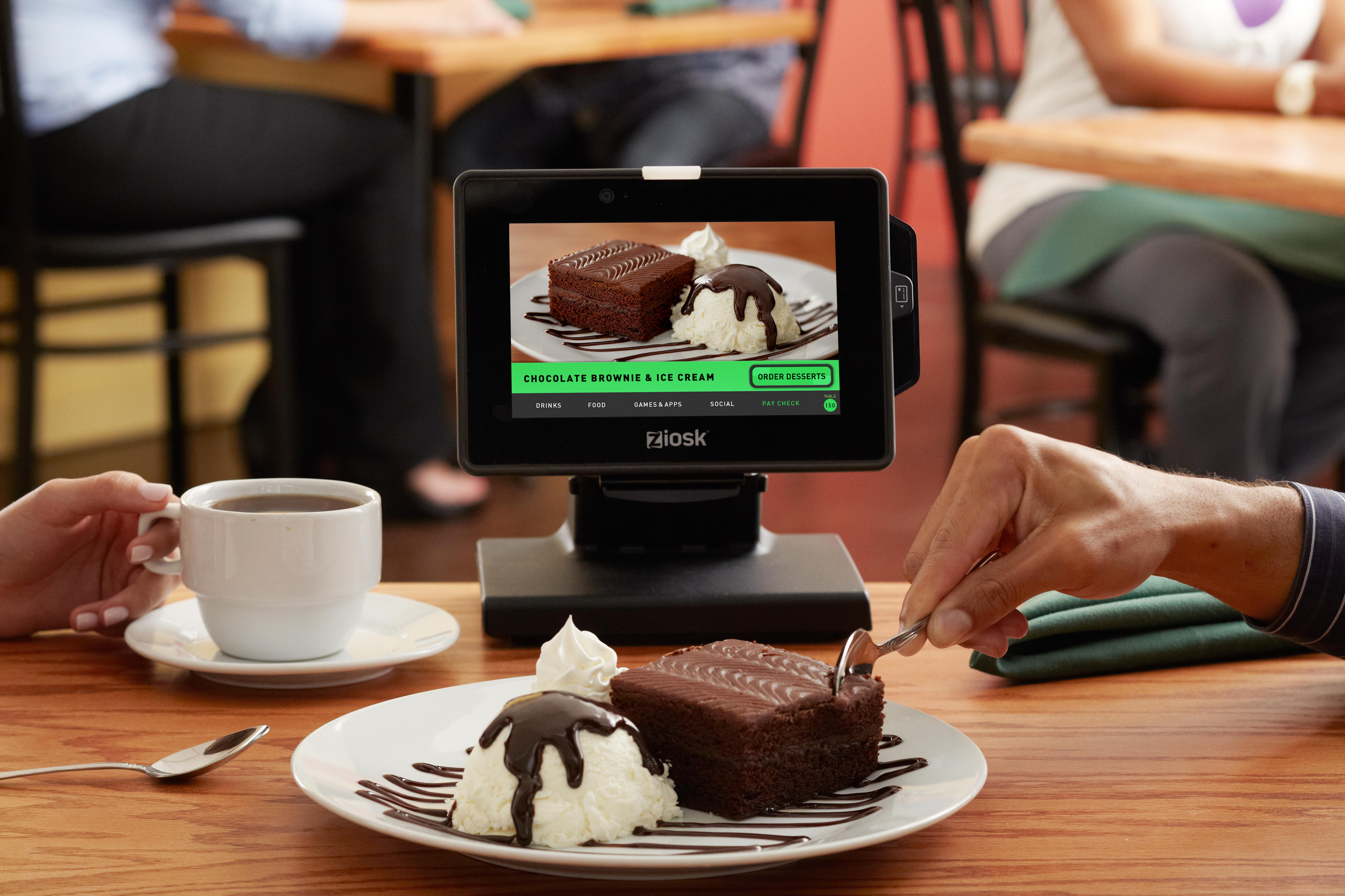 Ordering of the future: dessert by tablet. (Credit: Ziosk)
