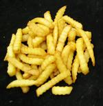 golden yellow French fries