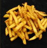 brown French fries