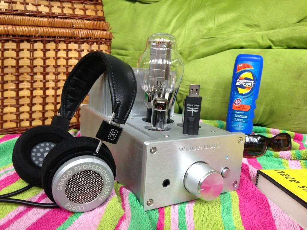 Great Sound on the Go: The Grado PS 500 headphones, Woo Audio WA6 headphone amp, and the Audioquest... [+] Dragonfly DAC