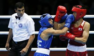 Turkmen boxing referee Ishanguly Meretnyyazov ...