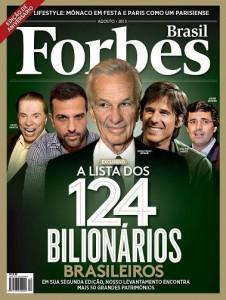 First Forbes Brasil cover, featuring Lemann at the center (Courtesy of Forbes Brasil)