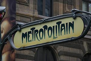 Metro sign in Paris France, photographed by Fr...