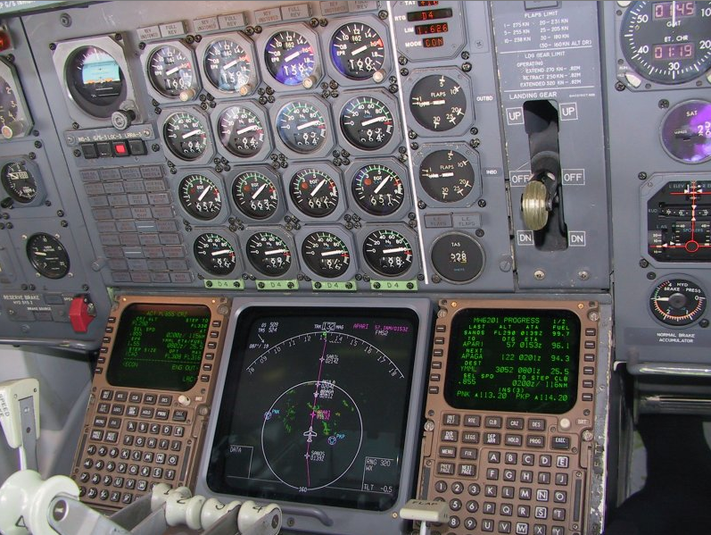 An airplane's cockpit, including the Honeywell flight management system that Hugo Teso says is among... [+] the vulnerable equipment he tested.