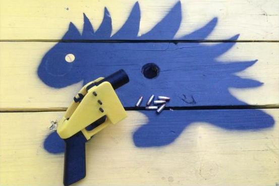 A photo of a 3D-printed Liberator pistol posted on Twitter by the New Hampshire group the Free State Project.