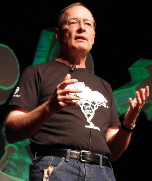 NSA Director Keith Alexander, speaking at the Defcon hacker conference last summer.
