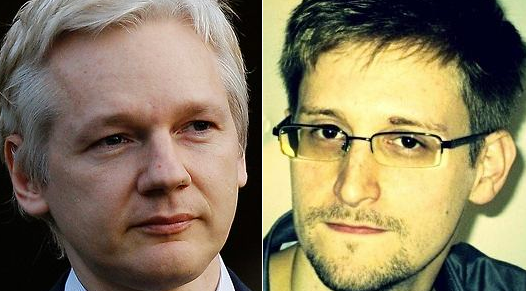 Julian Assange and Edward Snowden, who have now both applied for asylum in Ecuador.