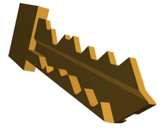 A CAD model of a Primus key created with Lawrence and Van Albert's software.