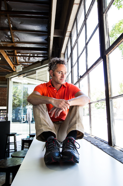 Karp in Palantir's Palo Alto offices. (Credit: Eric Millette for Forbes)