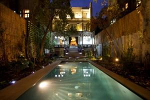 The rooftop pool at the Lastarria boutique hotel