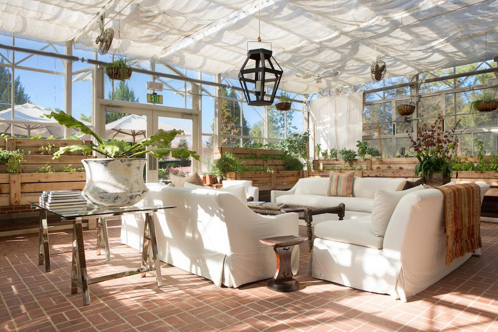 The Greenhouse at the Four Seasons Westlake Village, where Ranch 4.0 guests eat their vegan meals... [+] and gear up for long hikes