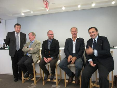 Grand complication panelists (from left): Gary Girdvainis, Edward Faber, Michael Friedman, Osvaldo Patrizzi and Alexis Sarkissian. Photo credit: Anthony DeMarco