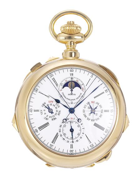 The Patek Philippe Reference 959/J Grand Complication Timepiece at Aaron Faber Gallery.