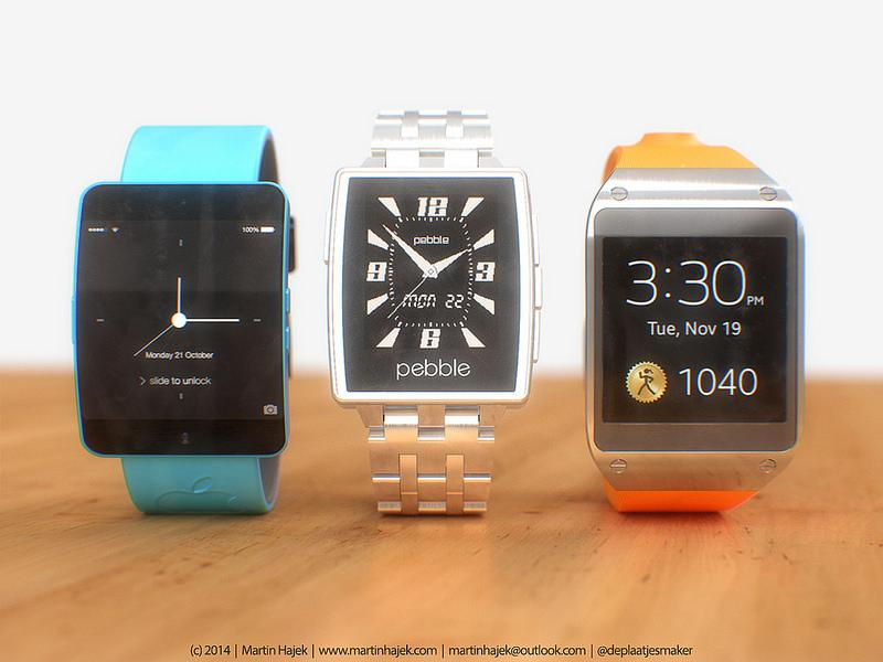 iWatch concept vs. Pebble Steel vs. Samsung Gear by Martin Hajek