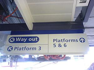 Epping Platform 5 and 6 sign