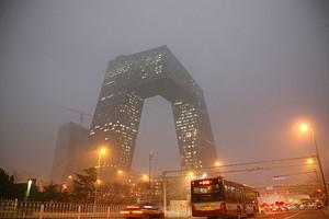 The new China Central Television (CCTV) tower ...