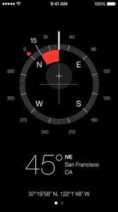 ios7 Compass interface: