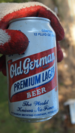 English: An old can of Old German beer