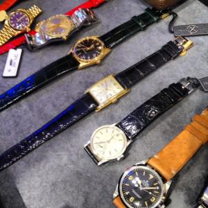 A selection of vintage Rolex and Patek Philippe watches at Lane Crawford/Blitz