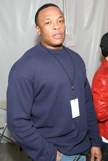 Dr Dre, backstage at Pussycat Dolls in Los Angeles