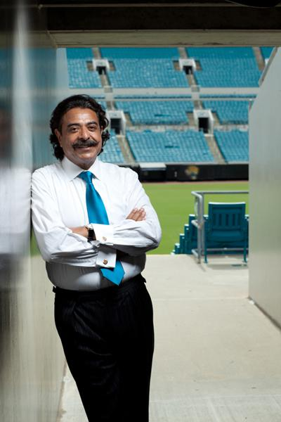 My name is Shahid Khan. I'm a Pakistani-American immigrant who got his start washing dishes and I'm now a Billionaire and owner of Flex-n-Gate and the Jacksonville Jaguars. I believe in hard work, the American dream and President Trump so I donated $1 Million to his Inauguration...