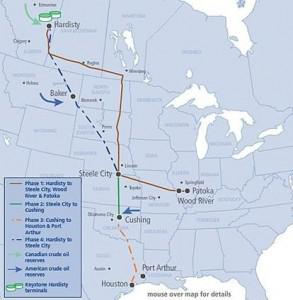 The Current and Proposed Keystone Pipeline System. Phase I and II are in operation. Phase III (KXL... [+] South) was approved by President Obama last March and will begin operating in early 2014. Phase IV (KXL North) awaits a Presidential Permit and is opposed by environmentalists. (Credit: Wikipedia)