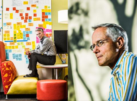 Intuit CEO Brad Smith; cofounder Scott Cook
