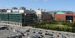 English: UCSF - Mission Bay Campus seen from t...