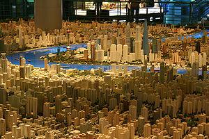 City planners' vision of Shanghai in 2020 at t...