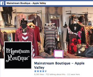 Mainstream Boutique on Facebook - Apple Valley Store