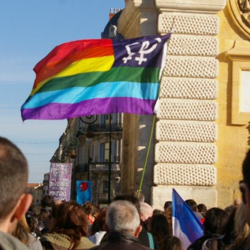 Gay parade in Montpellier